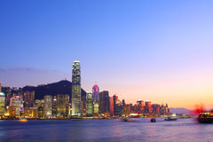 Hong Kong skyline at night Stock Image