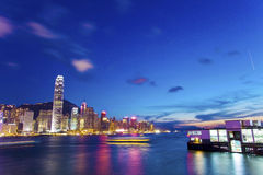 Hong Kong skyline at night Royalty Free Stock Photos