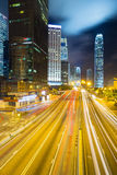 Hong Kong Skyline night Stock Photo