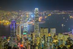 Hong Kong skyline at night Royalty Free Stock Images