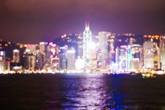 Hong Kong skyline at night royalty free stock photo