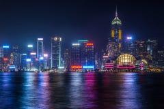 Hong Kong skyline at night Stock Images
