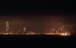 Hong Kong Skyline at night Stock Photos