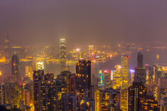 Hong Kong skyline at night Royalty Free Stock Image