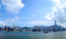 Hong Kong skyline over Victoria Harbour Stock Images