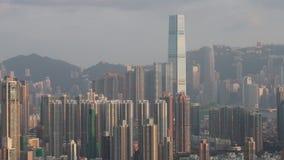 Hong Kong Skyline på 2018 arkivfilmer