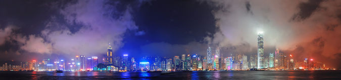 Hong Kong skyline panorama Stock Photos