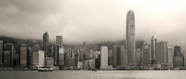 Hong Kong skyline panorama Royalty Free Stock Photo