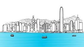 Hong Kong Skyline Panorama Stock Image