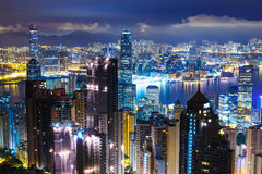 Hong Kong skyline from Peak Stock Photos