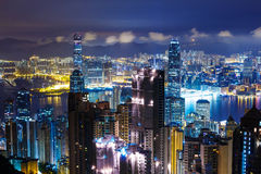 Hong Kong skyline from Peak Royalty Free Stock Photo