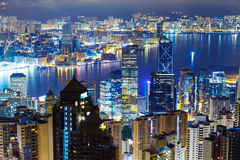 Hong Kong skyline from Peak Stock Photography