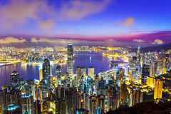 Hong Kong skyline during sunrise Royalty Free Stock Photography