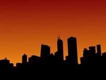 Hong Kong skyline at sunset Stock Photos