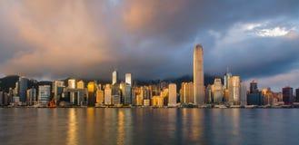 Hong Kong Skyline. From Victoria Bay royalty free stock photo