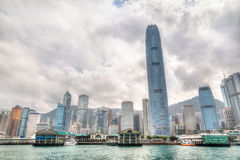 Hong Kong Skyline From Victoria Harbor stock photo