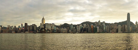 Hong Kong Skyline and Victoria Harbour Royalty Free Stock Image