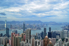 Hong Kong Skyline. From Victoria Peak royalty free stock photos