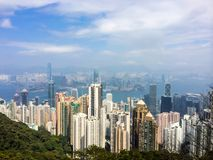 Hong Kong skyline from Victoria Peak Stock Photo