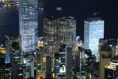 Hong Kong skyline at victoria peak 2017. The Hong Kong skyline at victoria peak Royalty Free Stock Photos