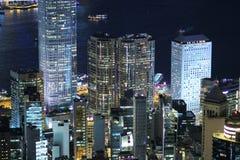 Hong Kong skyline at victoria peak 2017. The Hong Kong skyline at victoria peak Royalty Free Stock Images