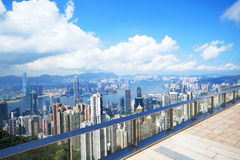 Hong Kong skyline from Victoria Peak Royalty Free Stock Photo