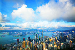 Hong Kong skyline from Victoria Peak Royalty Free Stock Images