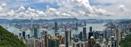 Hong Kong skyline from Victoria Peak Royalty Free Stock Photos