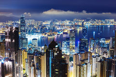 Hong Kong skyline from Victoria Peak Stock Photos