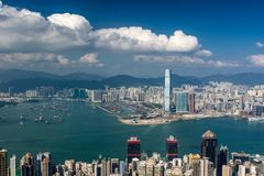 Hong Kong Skyline from Victoria Peak Stock Images