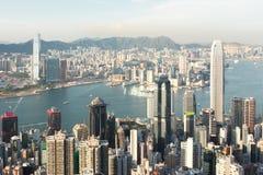 Hong Kong Skyline. Victoria Peak - One of the greatest landmark in Hong Kong Royalty Free Stock Photo