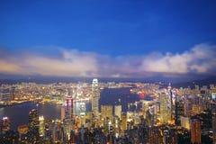 Hong Kong skyline from Victoria Peak Stock Image