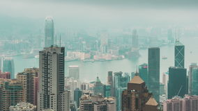 Hong Kong Skyline View stock footage