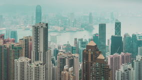 Hong Kong Skyline View stock videobeelden