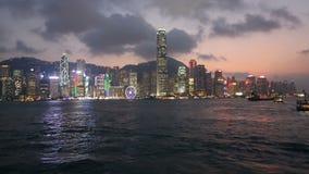 Hong Kong skyline stock video footage