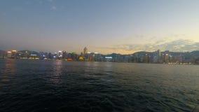 Hong Kong skyline stock footage