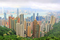 Hong Kong skyline. View from Victoria Peak stock photo