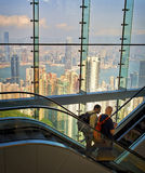 Hong Kong Skyline View, from Window Stock Images