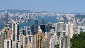 Hong Kong Skyline Wideview royalty-vrije stock foto's