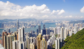 Hong Kong skylines daytime Stock Photo