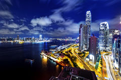 Hong Kong Skylines night Royalty Free Stock Photography
