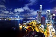 Hong Kong Skylines night. Hong Kong Skylines at finance zone at night Royalty Free Stock Photography