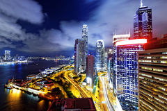 Hong Kong Skylines night Royalty Free Stock Photos