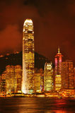 Hong kong skylines night view Royalty Free Stock Photo