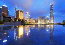 Hong Kong Skylines at sunset Stock Images