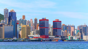 Hong kong skylines Royalty Free Stock Images