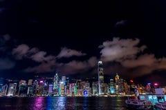 Hong Kong-Skylinestadtbild Victoria Bay Stockfotografie