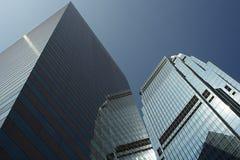 Hong Kong Skyscraper. Skyscraper in hong kong with blue sky royalty free stock photography