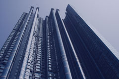 Hong Kong Skyscraper. Modern skyscraper in Hong Kong, China royalty free stock image