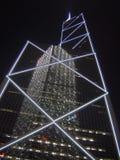 Hong kong skyscraper. Night view at china bak building Royalty Free Stock Photos